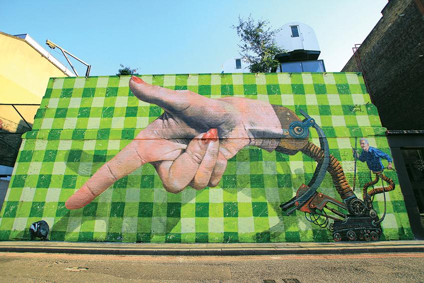 6 Martin Ron badger cull mural Shoreditch, London August 2013.jpg