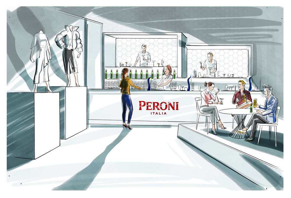 Setting the scene at The House of Peroni