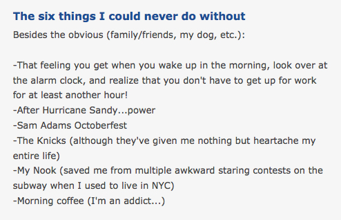 What should i write about me on a dating site