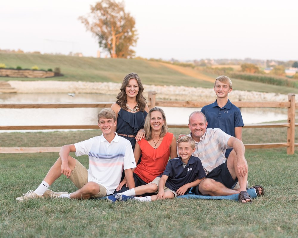 Lancaster County portrait photographer family outdoor session Leola Pa photo