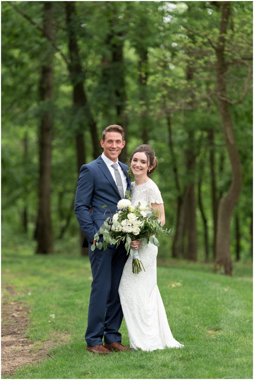 Lancaster private residence bride and groom portrait wedding photo