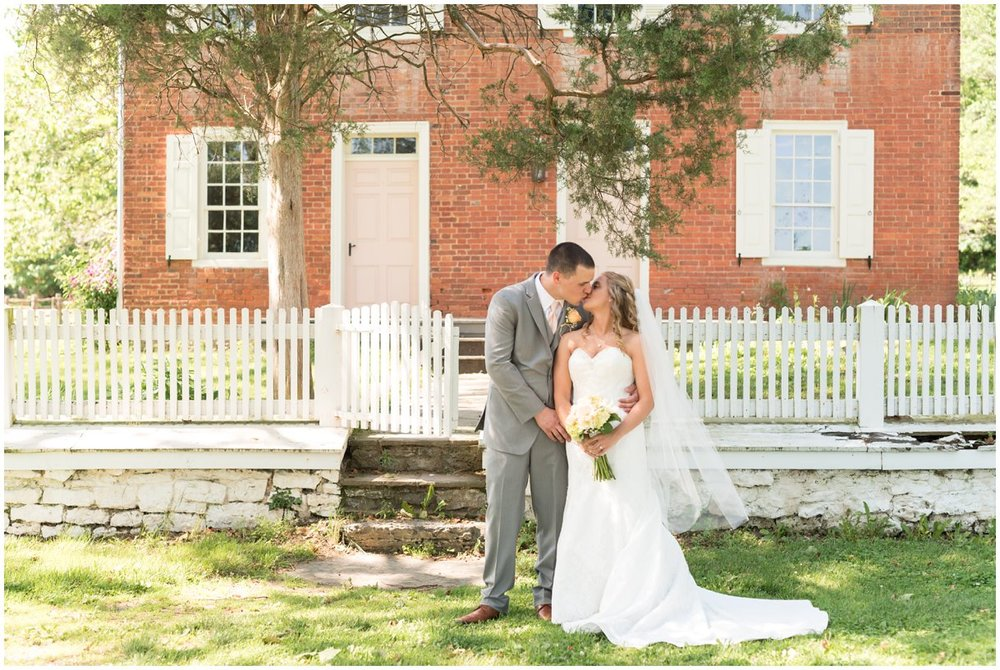 Landis Valley Museum Lancaster County PA bride and groom portrait wedding photo