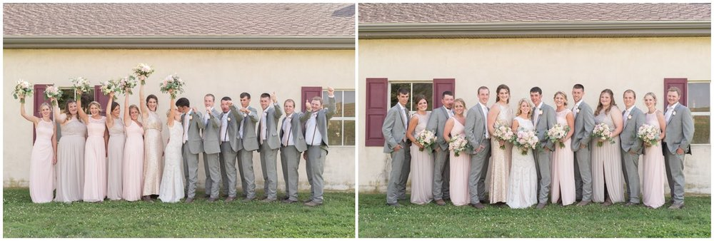 Bridal party Lancaster farm outdoor farm wedding photo