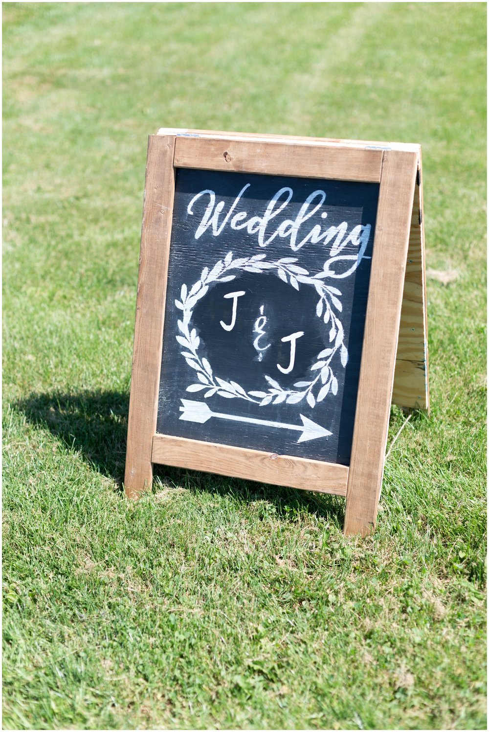 Wedding sign Lancaster PA farm wedding photo