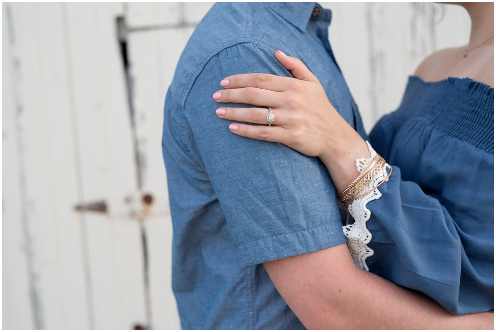 Ring details lancaster farm engagement Southview Farm session photo