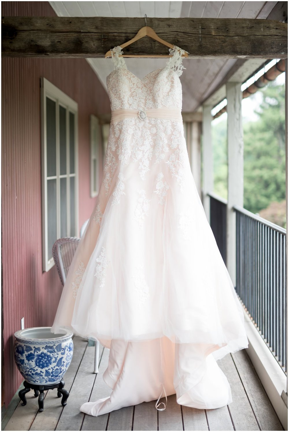 Dress details at Pheasant Run Bed and Breakfast Lancaster PA bridal gown detail photo