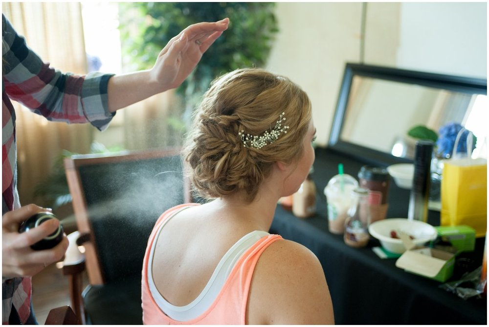 Strasburg farm wedding in Lancaster County bride getting ready wedding photographer photo