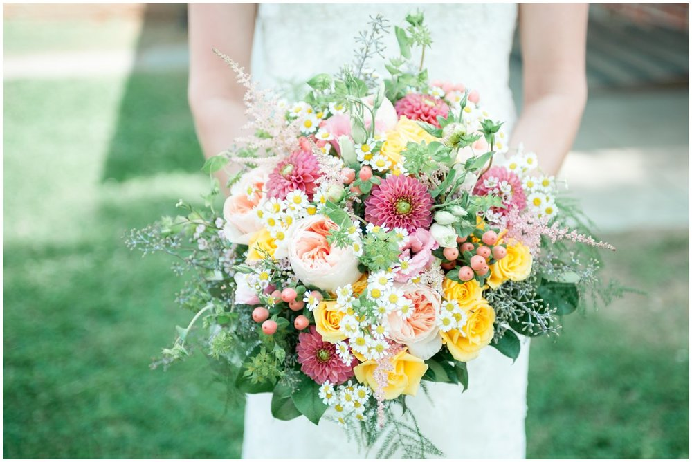 Strasburg farm wedding in Lancaster County wedding photographer bridal florals  photo