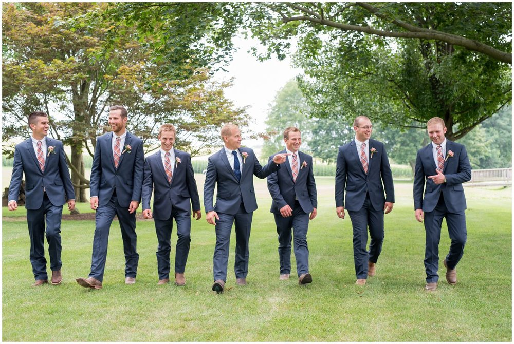 Strasburg farm wedding in Lancaster County wedding photographer bridal party photo