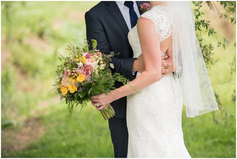 Bride and Groom portrait at Strasburg Farm Wedding in Lancaster Pa wedding photographer photo
