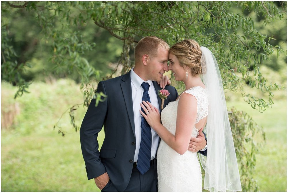 Strasburg farm wedding bride and groom portrait Lancaster county wedding photographer photo