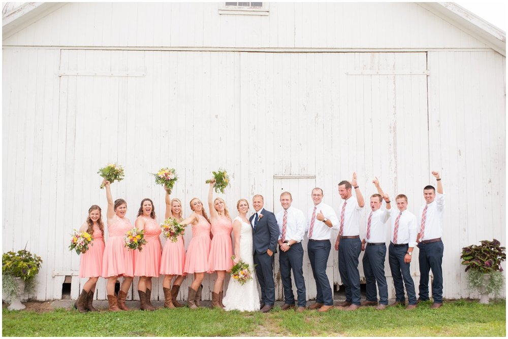 Strasburg farm wedding Bridal Party Image Lancaster county wedding photographer photo