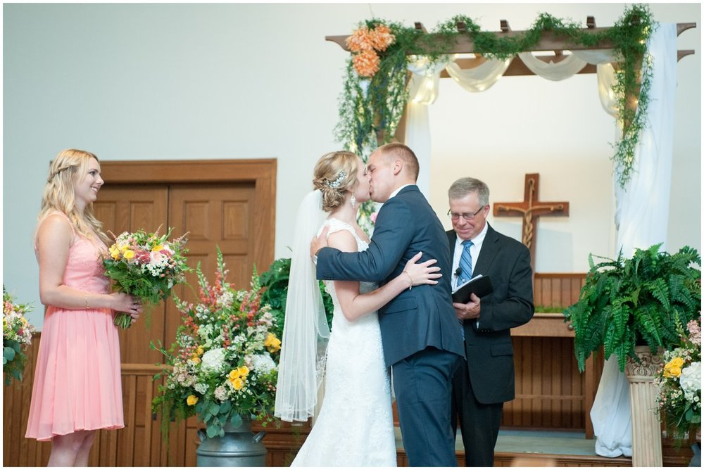 Strasburg farm weddingCeremony Image  Lancaster county wedding photographer photo