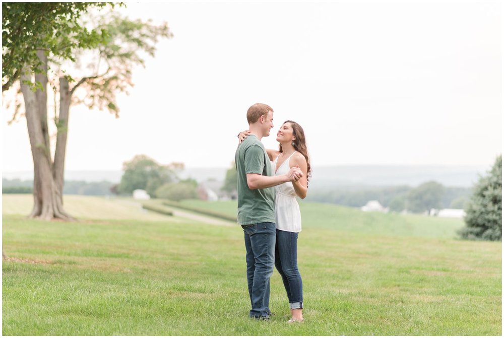 Romantic engagement session Drumore Estate in Lancaster PA wedding photo