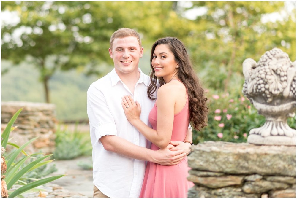 Romantic engagement session at Drumore Estate in Lancaster PA photo