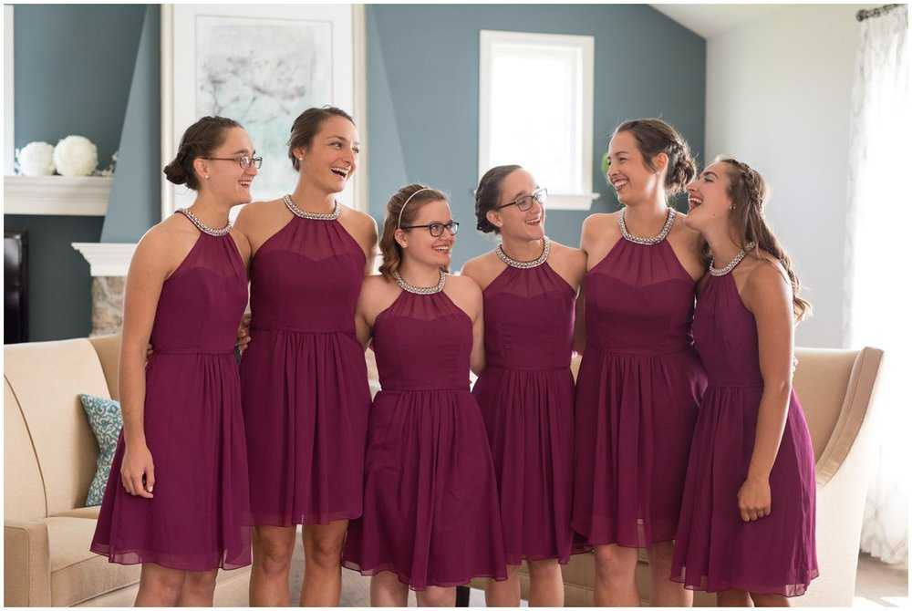 Lancaster pa wedding day bridesmaids waiting photo