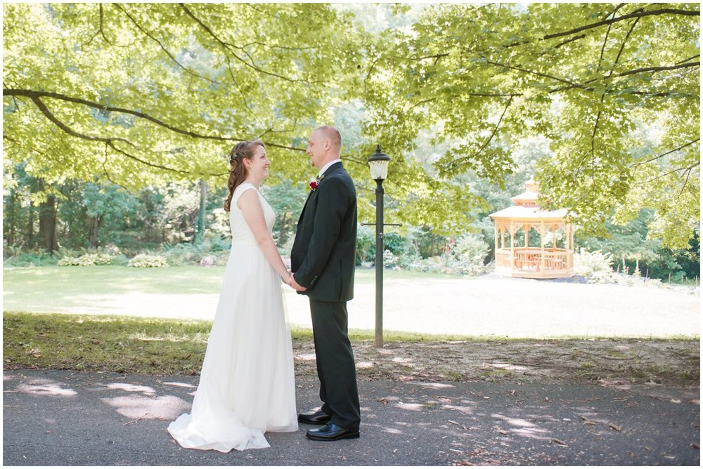 Lancaster Pa Wedding day Hollinger House Bed and Breakfast first look reveal photo