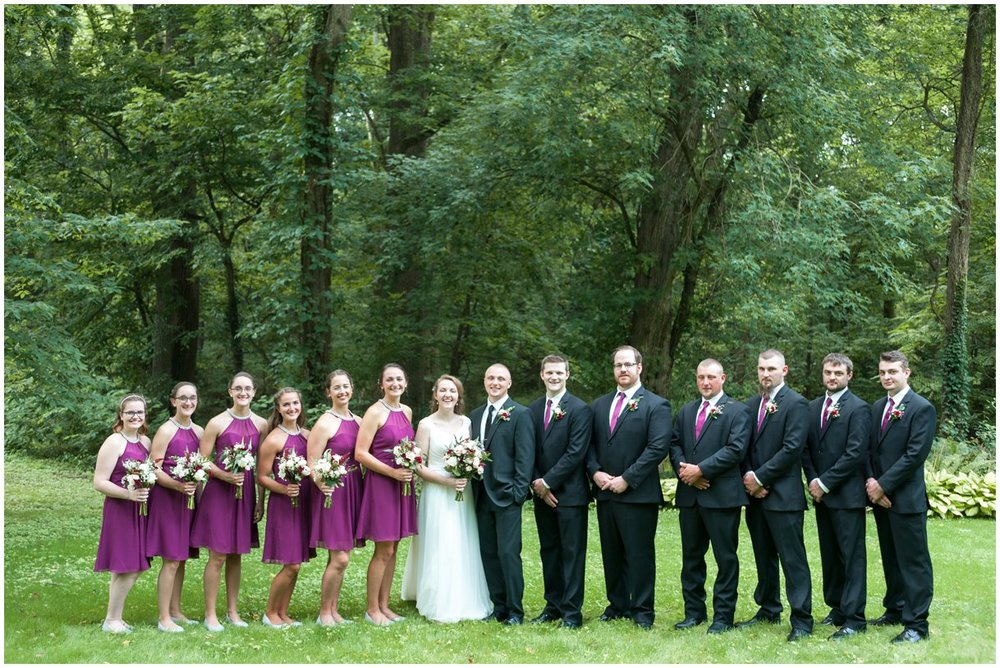 Lancaster Pa Wedding day Hollinger House Bed and Breakfast bridal party  photo
