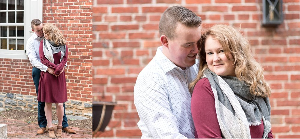 Winter engagement session Lancaster City Wedding Photographer photo