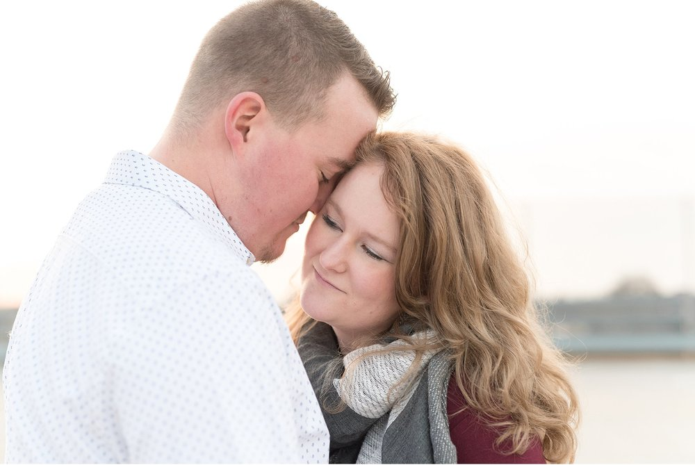 Golden sun Lancaster city rooftop engagement session photography photo