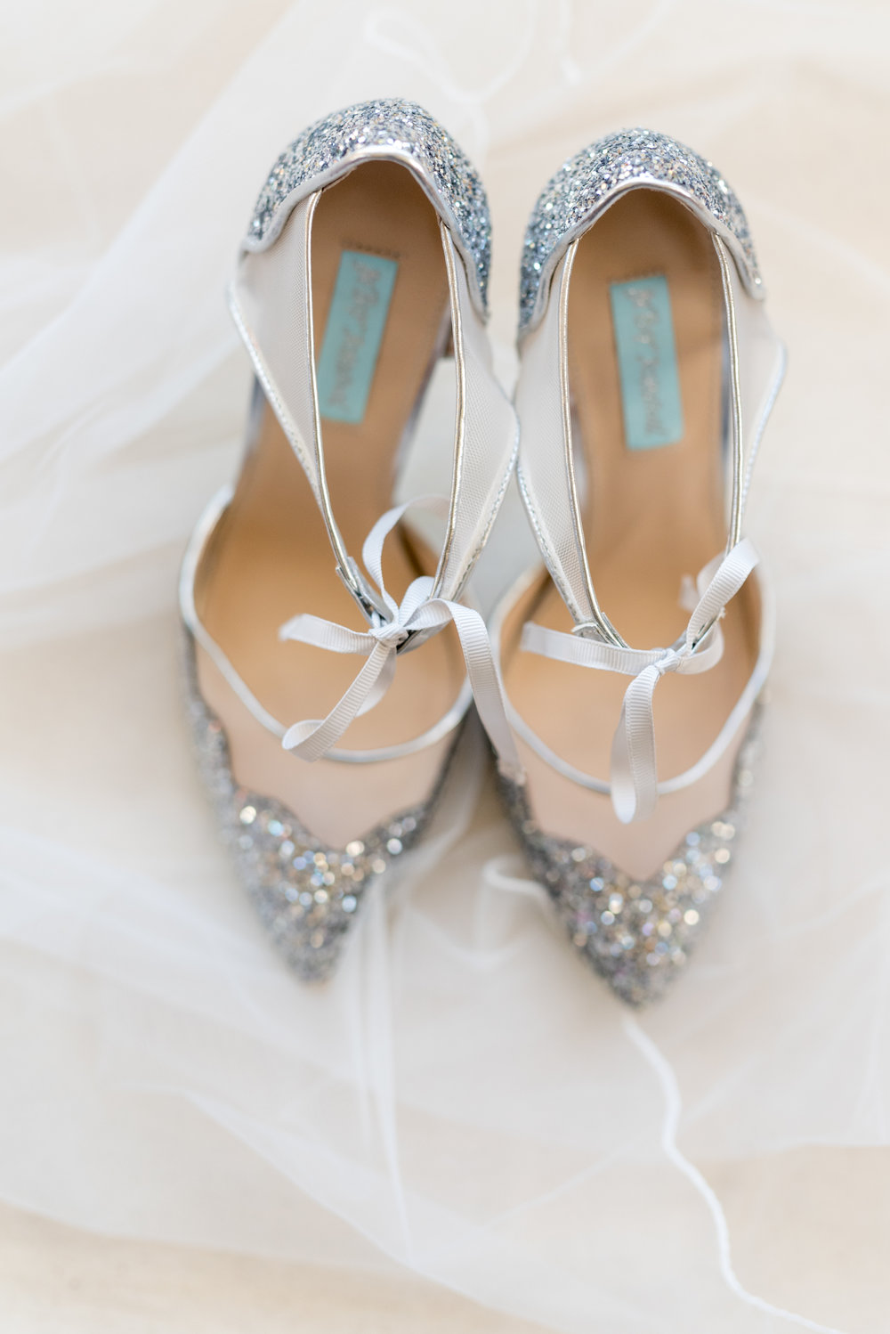 Glittery bridal shoe details Lancaster PA wedding photography photo