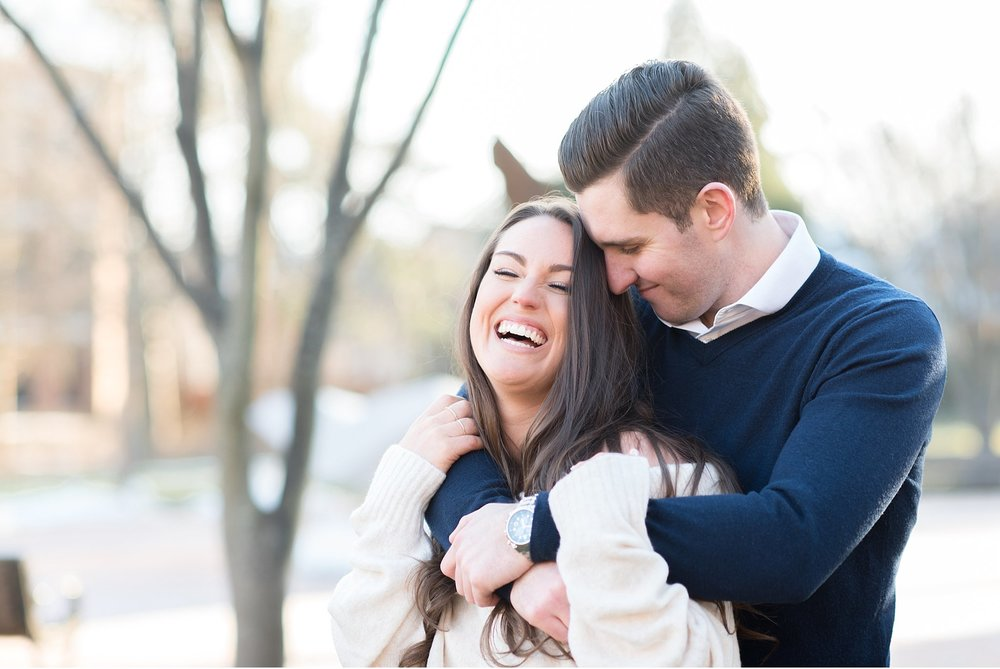 Engagement session at University of Delaware golden sun photo