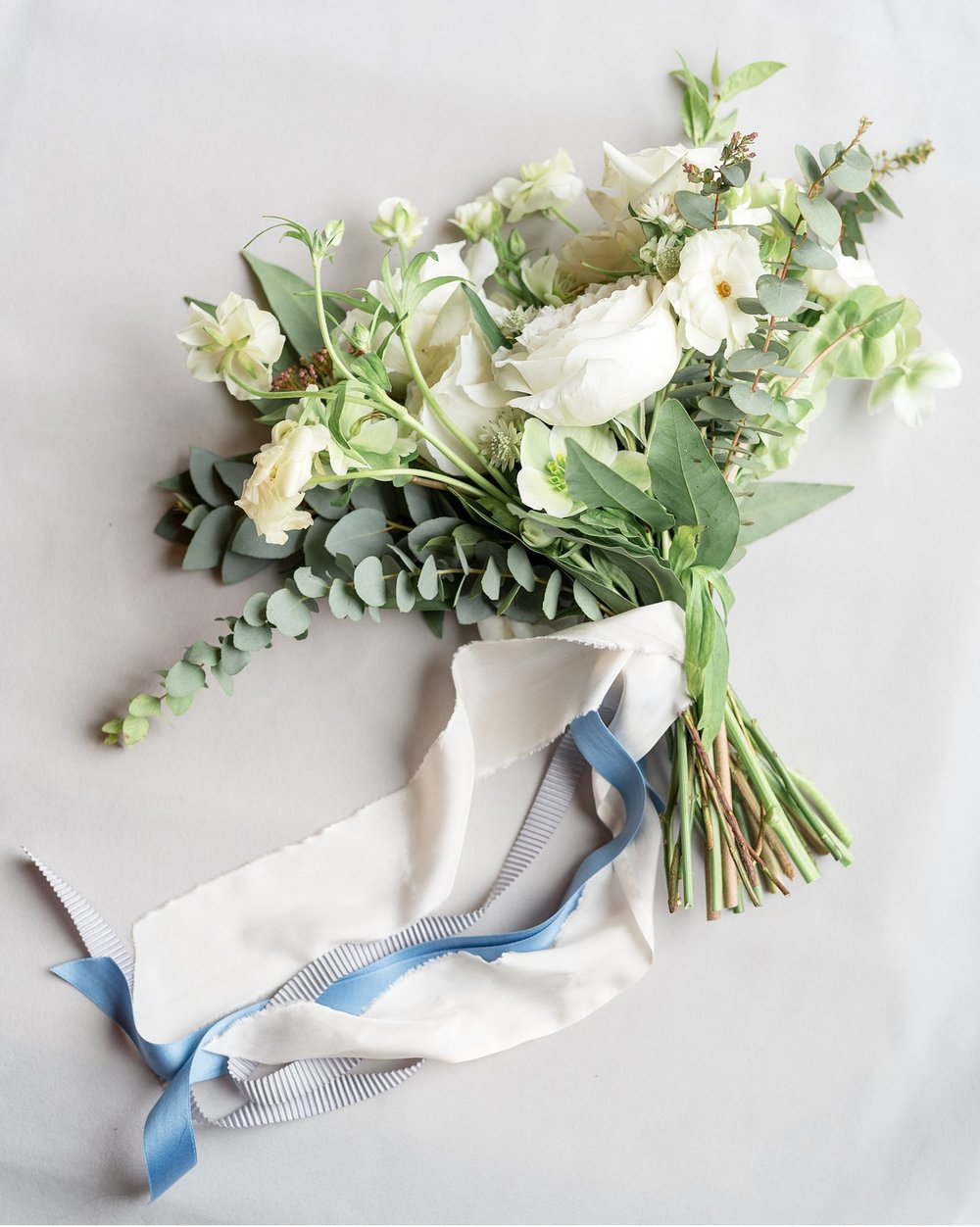 Beautiful floral display with ribbon