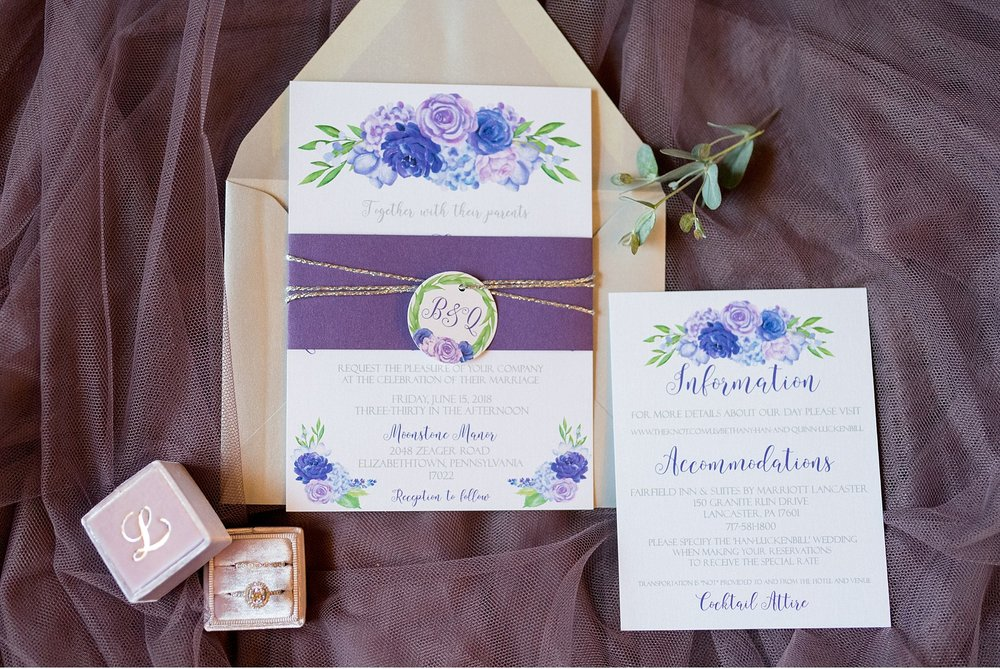 Invitation details Moonstone Manor Elizabethtown PA purple and grey wedding photography photo_1676.jpg