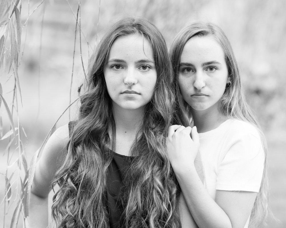 Hans Herr Senior twins black and white image photography photo