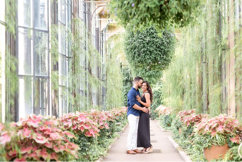 Engagement session couple at Longwood Garden Wedding Photography Photo