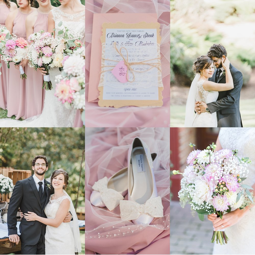 Elegant Blush Colored Wedding Lancaster County PA Photo