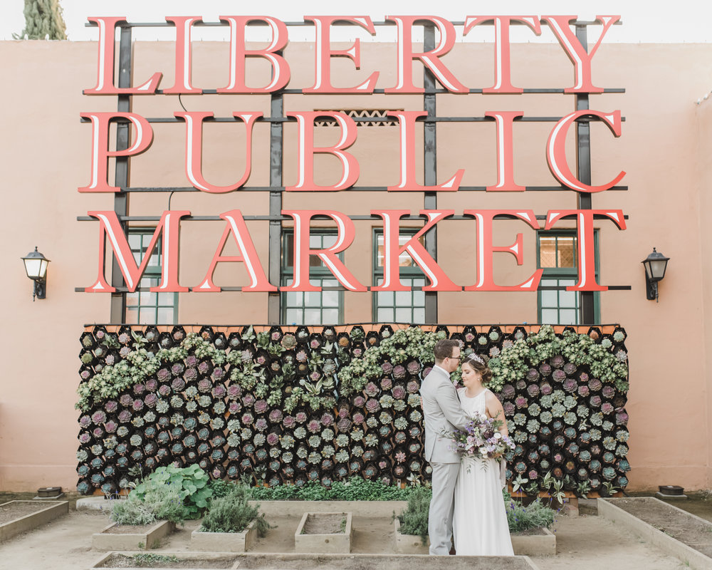 Liberty Public Market bride and groom San Diego CA destination wedding photographer