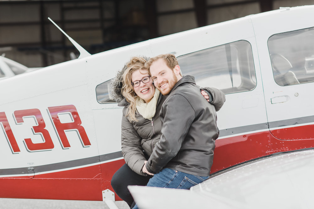 Lancaster airport engagement session wedding photography