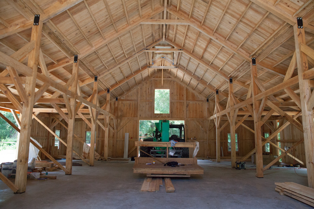 another view inside the barn