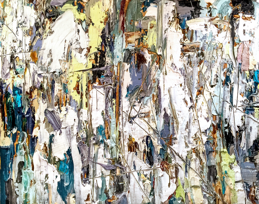 "Splintered  Acrylic on Canvas 48"" x 60"" 2016"
