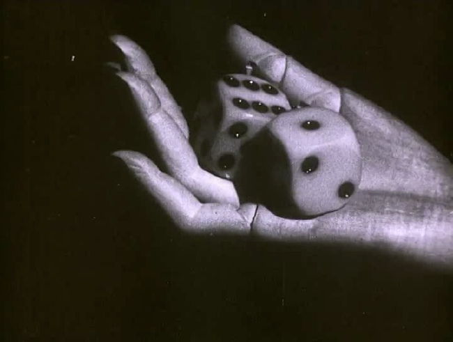 A throw of the dice will never abolish chance      Still from  Les Myst   è   res du château de Dé  (1929), directed by Man Ray. Originally a silent film, recent copies have been dubbed using music taken from Man Ray's personal record collection of the time.         Watch it on  UbuWeb  .