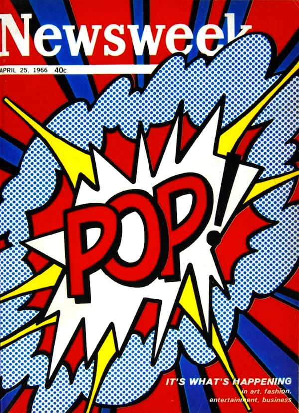 blouinartinfo :     Check out  Roy Lichtenstein's explosive cover design for Newsweek 's 1966 Pop art issue.