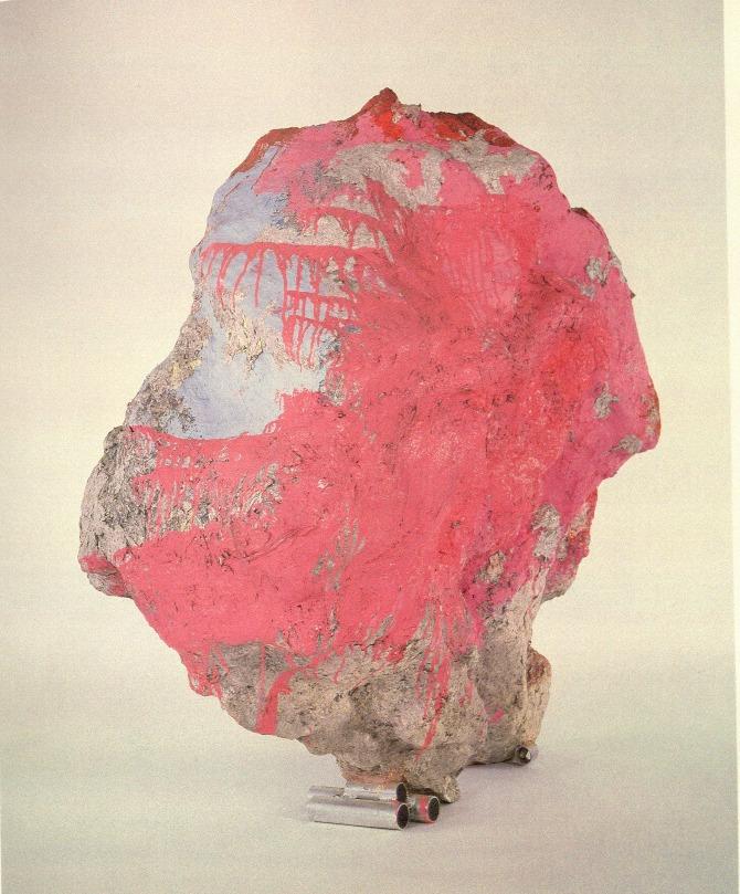 Franz West  (1947–2012),  Sisyphos IX , 2002. Papier-mâché, styrofoam, cardboard, lacquer & acrylic. 68-1/2 x 59-3/4 x 44 inches