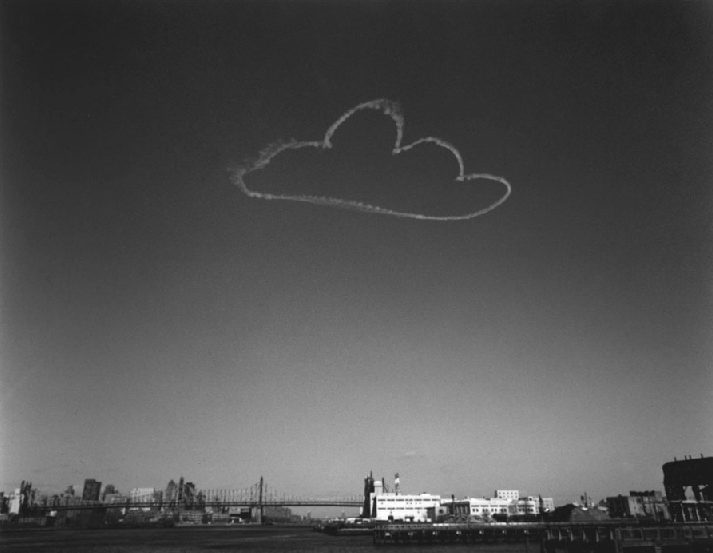 cavetocanvas :      Vik Muniz ,  Manhattan II , from  Pictures of Clouds , 2001