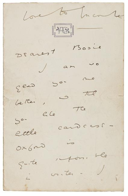 theparisreview :      The earliest surviving letter from Oscar Wilde's passionate (and tragic) relationship with Lord Alfred Douglas , known to friends and family as Bosie. ( via )