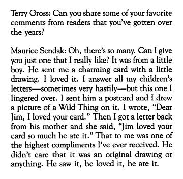 npr :  Fresh Air remembers Maurice Sendak
