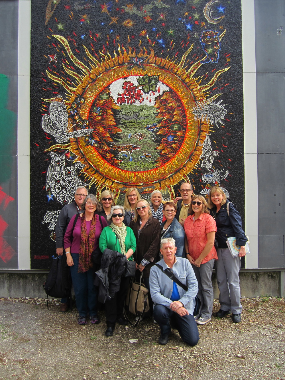 2013 Tour participants after visiting (and drooling) over the Spilimbergo mosaic school.