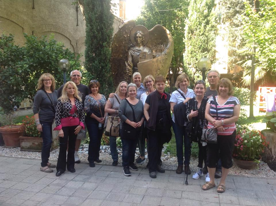 Mosaic Masterpiece Tour 2015 visited Centro Aletti mosaic studio in Rome.