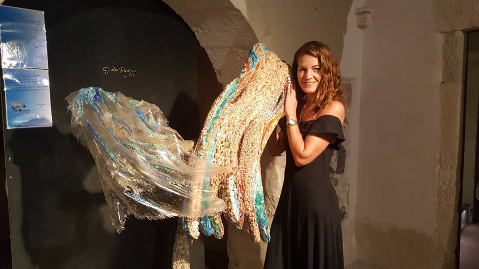 "The second Sardinia Contemporary Mosaics International Symposium took place in Ploaghe, Sardinia in July and August, 2017. Pictured at the final exhibit gala is my work, ""Il Maestrale,"" a tribute to the history and natural elements that have influenced the island of Sardinia over the course of its long history. To read about the Symposium, view this  article  I wrote for the Mosaic Association of Australia and New Zealand newsletter."