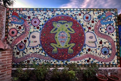 Make your mark. - Participants in the March, 2017 Mosaics in Mexico tour and workshop created