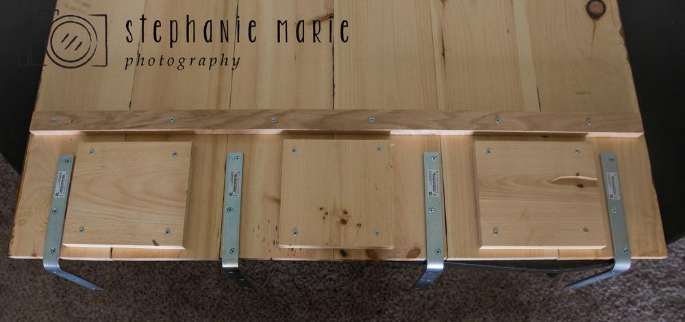 Diy Faux Hardwood Wall Amp Floor Stephanie Marie