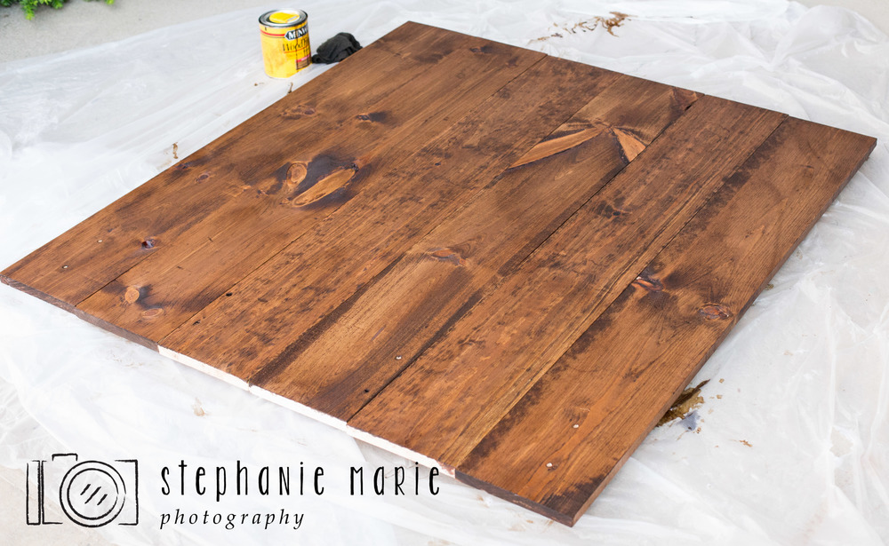 Diy Faux Hardwood Wall Amp Floor Stephanie Marie