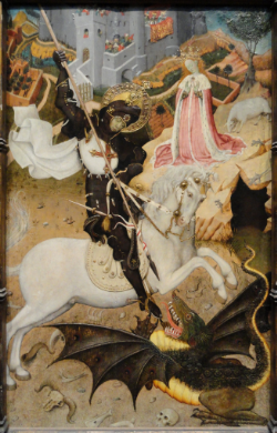 Saint George Killing the Dragon (1434-1435), Bernat Martorell.  Art Institute of Chicago, Chicago, IL. USA.