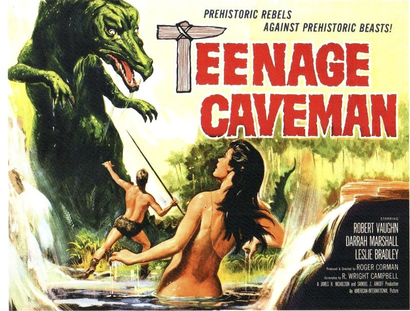 Movie poster for Teenage Caveman, 1958.  The picture is worth 1000 words and, apparently, 65 minutes of celluloid.