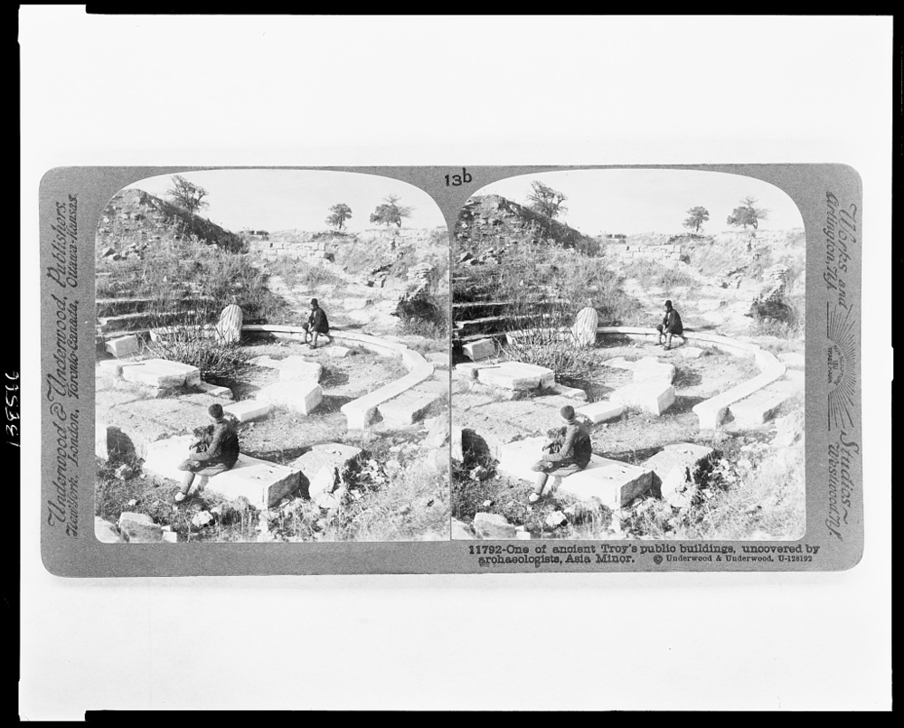 Title:   One of Troy's public buildings, uncovered by archaeologists, Asia Minor ;    Creator(s):    Underwood & Underwood , publisher;  Date Created/Published:  New York ; London ; Toronto-Canada ; Ottawa-Kansas : Underwood & Underwood, Publishers, c1915 February 18.  Repository:  Library of Congress Prints and Photographs Division Washington, D.C. 20540 USA http://hdl.loc.gov/loc.pnp/pp.print   Library of Congress :   http://www.loc.gov/pictures/item/2009632282/